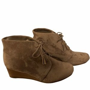 Dr. Scholl's Stucco Pierre Wedge Booties--Size 10